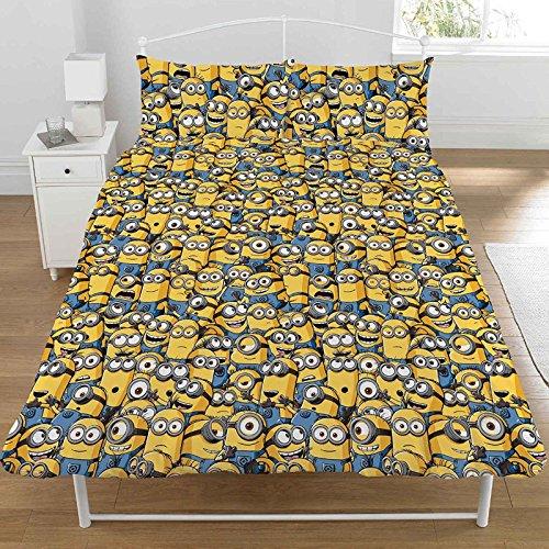 DESPICABLE ME MINIONS Parure de lit double avec housse de couette et taie d'oreiller.
