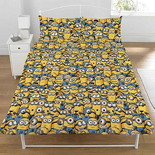 Despicable Me Double duvet cover with 2 Dreamtex pillowcases with Minions design from the animated film Despicable Me