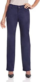 Lee Women's Relaxed Fit Plain Front Straight Leg Pant