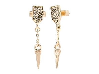 AllSaints Small Pave Spike Post Earrings (Black Diamond) Earring