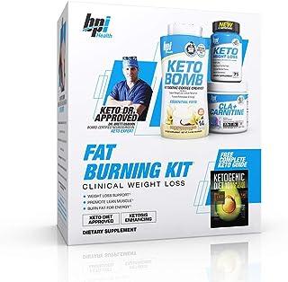 BPI Sports Fat Burning Kit Including Keto Bomb, Keto Weight Loss Fatburner, Cla+Carnitine, Ketogenic Guide Keto Dr. Approved