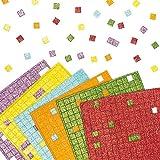 Baker Ross Pegatinas para Mosaico de Espuma con Purpurina (Paquete de 1.980) Para decorar tarjetas, collages y manualidades infantiles