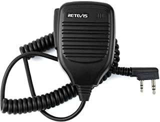 Retevis 2 Pin Handheld Remote Radio Speaker Mic H777/RT7/RT21/RT 5R KENWOOD/TYT/HYT Walkie Talkie 2 Way Radio (1 Pack)