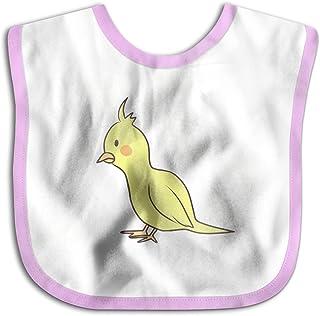 UBCATDESA Yellow Parrot Baby Bibs, Unisex Baby Soft Cotton Easily Clean Teething Bibs(Blue&Pink)