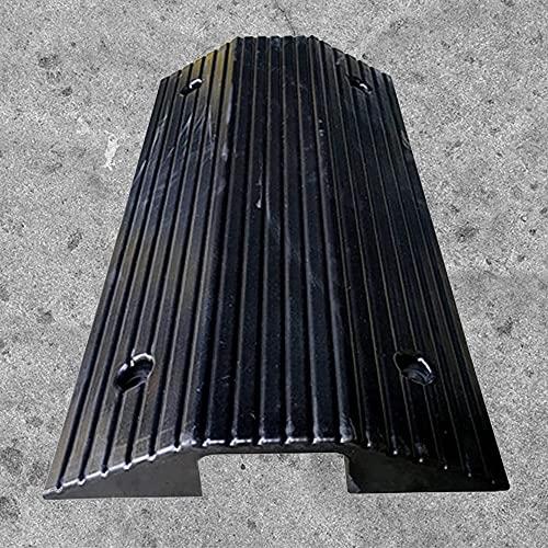 Rampa de umbral de entrada para silla de ruedas, rampa de puente interior y exterior, superficie antideslizante de goma sólida, rampa de entrada con rejilla inferior (tamaño opcional)