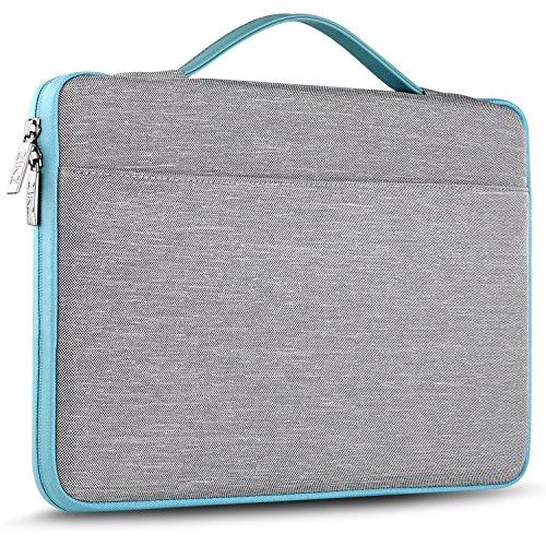 """ZINZ 15 15,6 16 Zoll Aktentasche Laptoptasche Hülle, Stoßfeste Wasserdicht Notebook Sleeve kompatibel mit MacBook Pro 15\"""" 16\"""", Beliebteste 15\""""-16\"""" HP/Dell/Asus/Acer/Lenovo usw Chromebook, Grau"""