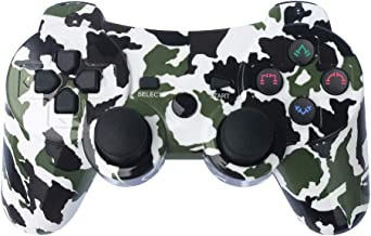 PS3 Controller Wireless Gamepad 6 Axis Dualshock 3 Game Remote Control Joystick for PlayStation 3 with Charging Cable (Army Green Camo)