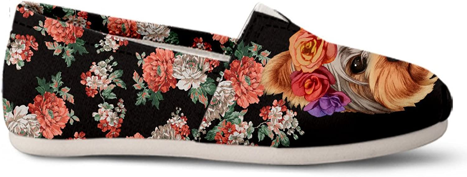 Gnarly Tees Floral Yorkie Casual shoes