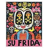 Su Frida Lienzo Pinturas De Arte Pop Americano Poster Impresiones Folclore Mexicano Arte De Pared EstéTico Salon De Estar Decoracion del Hogar Cuadros 60x75cm Sin Marco