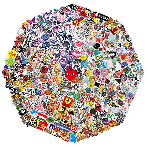 QWDDECO Stickers (386-PCS) Cute Stickers for Water Bottles Hydroflasks Skateboard- Decal Stickers for Teens, Girls, Boys, Adults - Laptop Stickers - Vinyl Stickers Waterproof - Sticker Pack Not Random