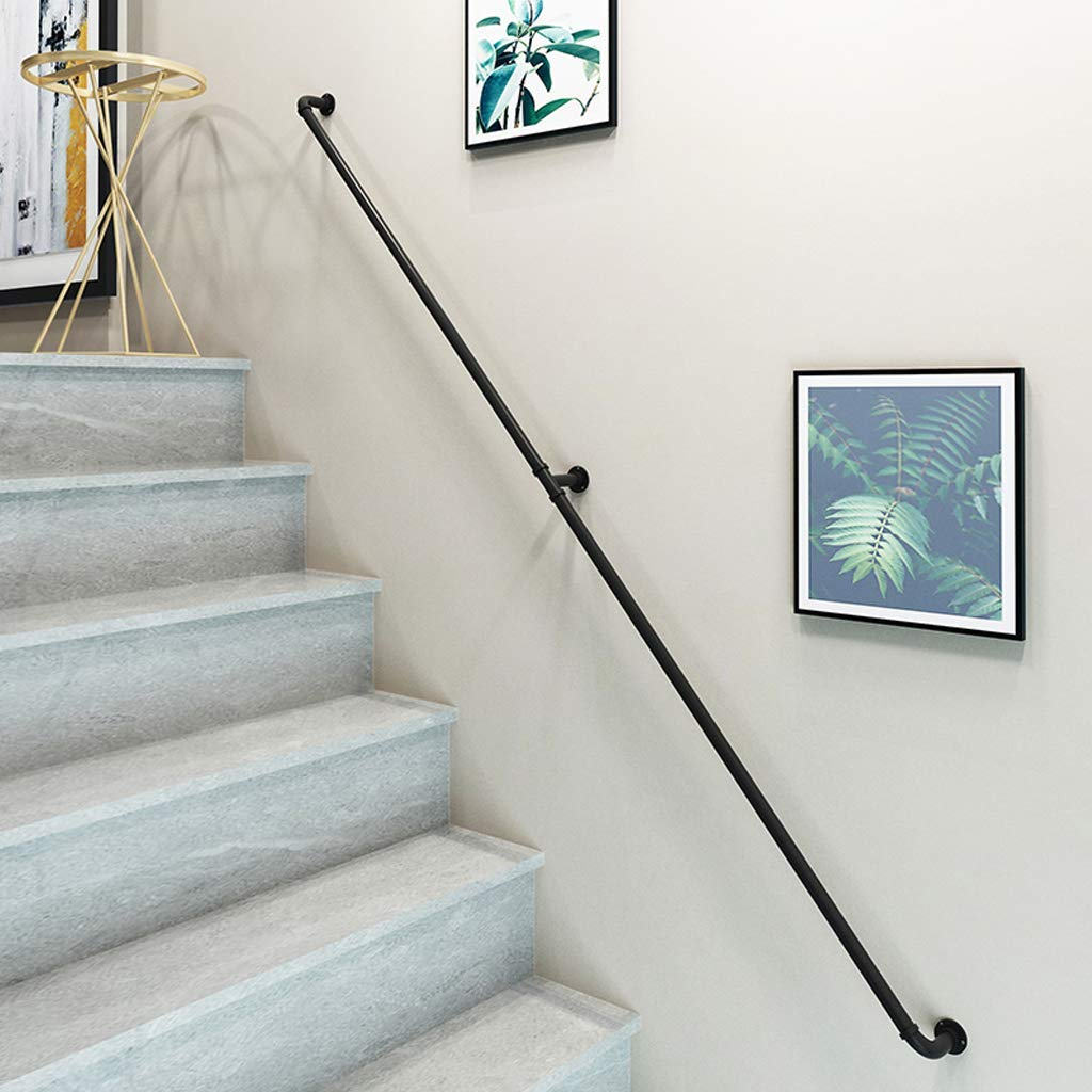 Barandillas de escalera de seguridad Barandillas negras Tubería industrial, barandilla Barandilla de escalera de viento industrial, altillo interior Barandillas para ancianos Barandillas del pasillo: Amazon.es: Hogar