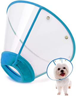 IN HAND Adjustable Pet Recovery Collar Comfy Cat Cone, US Patented Product Soft Edge..