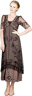 Women's Titanic Vintage Style Dress in Black/Coco