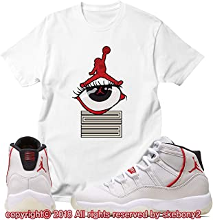 49338d16cd8593 Custom T Shirt Matching Style of Air Jordan 11 Platinum Tint JD 11-4-