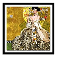 グスタフクリムトポスターとプリントゴールド抽象キャンバス壁アートヴィンテージ絵画リビングルームの家の装飾の写真60x60cmx1フレームなし