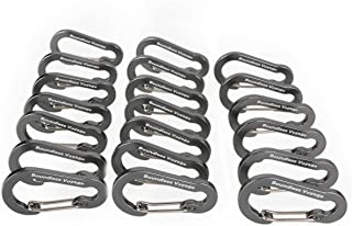 Boundless Voyage Aluminum Locking Carabiner Keychain D-Ring Clip Hook for Small Items and Bottles Backpacking Tools Hangin...