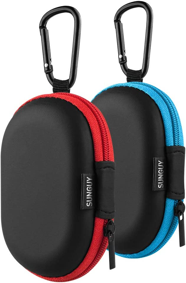 Earbuds OFFicial site Carrying Case SUNGUY【2Pack Red+Blue】 store O Small