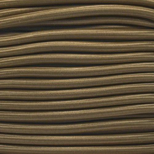West Coast Paracord Marine Grade Shock Cord 1/4-inch - Lengths up to 1000 feet - Made in USA (50 Feet, Coyote Brown)