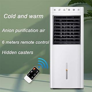 Air Cooler Portátil Frío Y Cálido Aire Acondicionado Tranquilo Móvil Enfriador Aire Humidificador Acondicionado Piso-en Pie Climatizador Portátil para Casa Oficina White 28 * 25 * 74cm