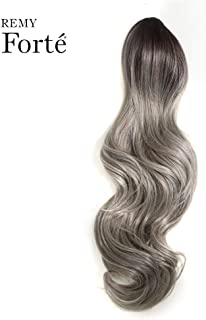 REMY FORTE Claw Ponytail Clip in Hair Extensions, Long Ponytail Hairpiece with a Claw Clip 158g, 26 Inches (TTSO4/STREEL1/56F/1001B)