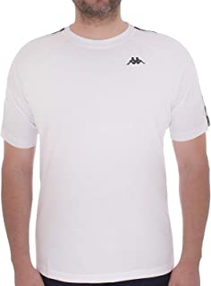 Kappa Mens 222 Banda Coen Regular Fit Short Sleeve T-Shirt Tee Top - White - XS