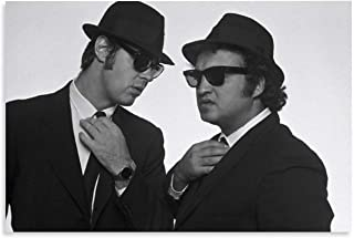 NIUASH Comedian Blues Brothers Canvas Art Poster and Wall Art Picture Print Modern Family Bedroom Decor Posters 12×18inch(...