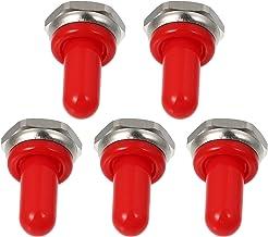 iplusmile 5 stks 12mm Rubber Rocker Toggle Schakelaar Knop Hoed Waterdichte Boot Cover Cap voor Toggle Schakelaars Rood