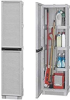 ArtPlast C50/172AP - Armario escobero gris, 50 x 39 x 172 cm