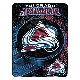 NHL Colorado Avalanche 'Ice Dash' Micro Raschel Throw Blanket, 46' x 60'