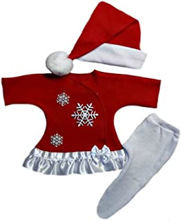 Jacqui's Baby Girls' Snowflake Red Christmas Dress, Preemie
