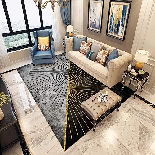 Tapijten minimalistisch koffietafel tapijtvloer grijze lijnen, eenvoudig geometrisch design, zacht tapijt, antislip woonkamertapijt stofabsorberend geometrische stijl tapijt