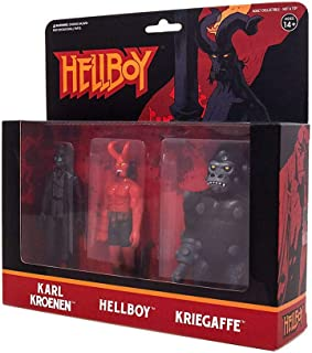 Super 7 Hellboy Reaction Action Figures 3 Pack A, Multicolor