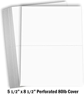 Hamilco White Cardstock Thick Paper - Blank Index Flash Note & Post Cards - 5 1/2 X 8 1/2