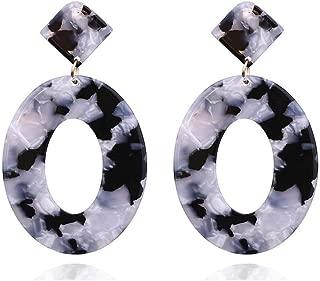Bohemian Acrylic Round Drop Earrings for Women Jewelry Boho Multicolor Resin Dangle Earring