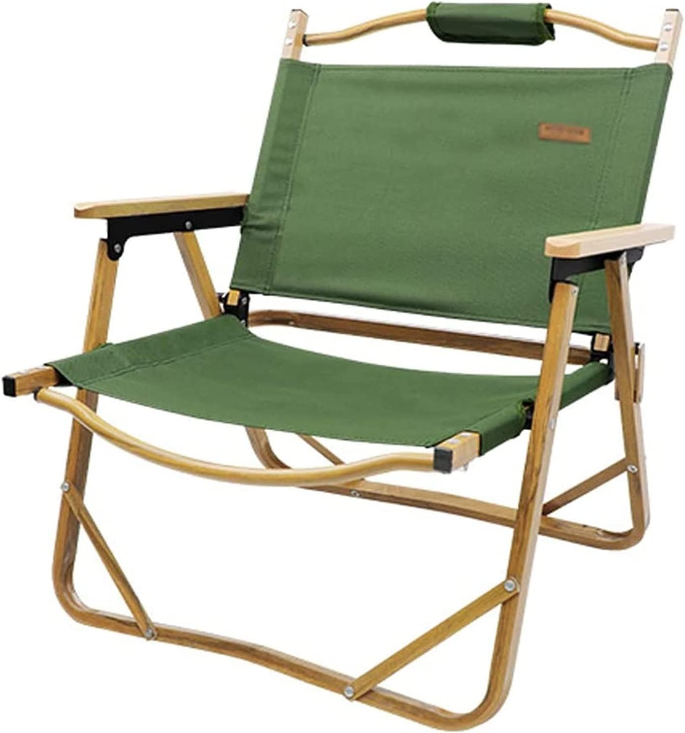 LSZ Deluxe Super sale period limited Camping Chair Folding Wood Grain Allo Aluminum