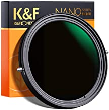 K&F Concept 67mm Variable Fader ND2-ND32 ND Filter and CPL Circular Polarizing Filter 2 in 1 for Camera Lens No X Spot Wea...