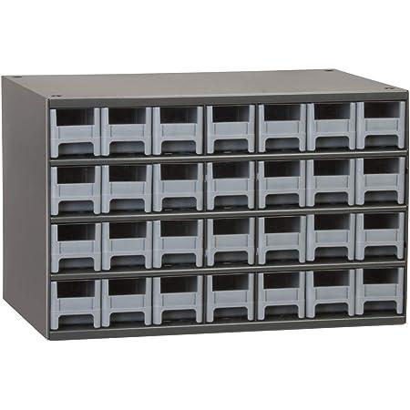 Akro-Mils 28-Drawer Steel Parts Craft Storage Cabinet Hardware Organizer, 19228, (17-Inch W x 11-Inch D x 11-Inch H), Gray Cabinet, Gray Drawers