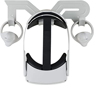 Elygo Support Mural VR pour Organisateur de Casque VR pour Oculus Quest 2 /Oculus Quest/Oculus Rift S/Oculus Go/Index de V...