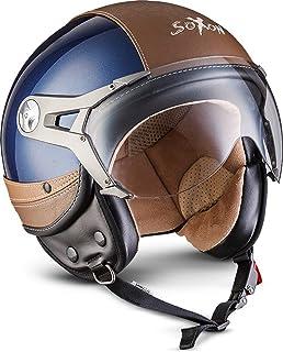 NTNK N325 Urban SOXON Open-Face-Helmet Motorcycle Half...