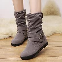 Hemlock Womens Booties, Ladies Winter Warm Calf Boots Slip On Snow Women Shoes Booties