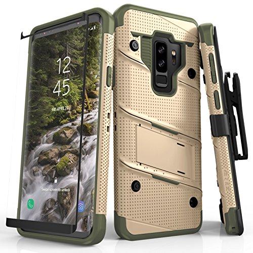 Zizo Bolt Series Samsung Galaxy S9 Plus pantserglasfolie voor behuizing - met sleuven en 3,7 m militair getest
