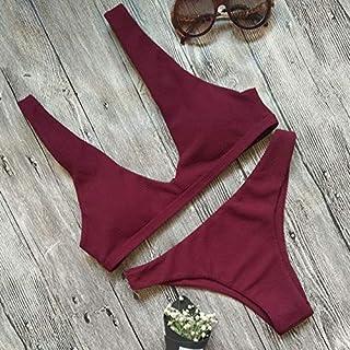 BEESCLOVER Women Push-up Padded Bra Bikini Set Triangle Swimsuit Swimwear Bathing Beachwear