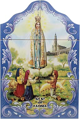 FARPortugal Our Lady of Fatima Apparition Portuguese Ceramic Tile Art Wall Panel Mural Decor