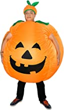 HUAYUARTS Pumpkin Inflatable Costume Blow up Costume Orange Fancy Dress Adult Jumpsuit Halloween Cosplay Outfit Gift