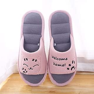 QIMITE Hiver Pantoufles Femmes en Mousse,Collection Chaussons de Lin Naturel/; Chaussons/; Chaussons/; /étanche Silencieux de l/ét/é Sandales Femme Chaussons/; Kaki/;