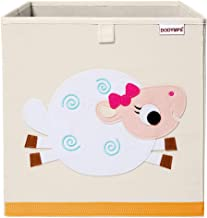 DODYMPS Foldable Animal Toy Storage Bins/Cube/Box/Chest/Organizer for Kids & Nursery, 13 inch (Sheep)