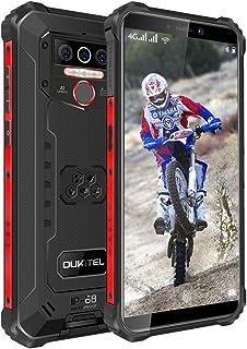 OUKITEL WP5 (2020) アウトドア スマートフォン 本体 SIMフリー スマホ本体 Android 10 IP68/IP69K 防水 防塵 耐衝撃 SIMフリースマートフォン 4GB RAM + 32GB ROM 8000mAh 5.5インチ 指紋認識 顔認証 携帯電話 デュアルSIM(Nano) 13MP SONY リアデュアルカメラ LEDライト 防災用品 1年間保証付き (黒)