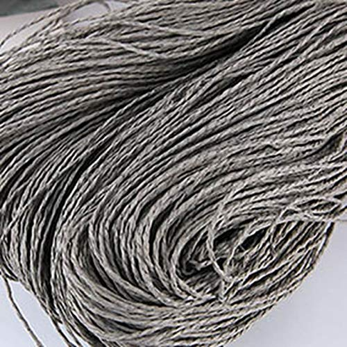 FANFAN Hilo de Rafia Kintting Hilo de Paja de Papel para Gorro de Ganchillo Hilo Elegante Embalaje de Flores Moda de Verano Material Hecho a Mano 100 g/Bola