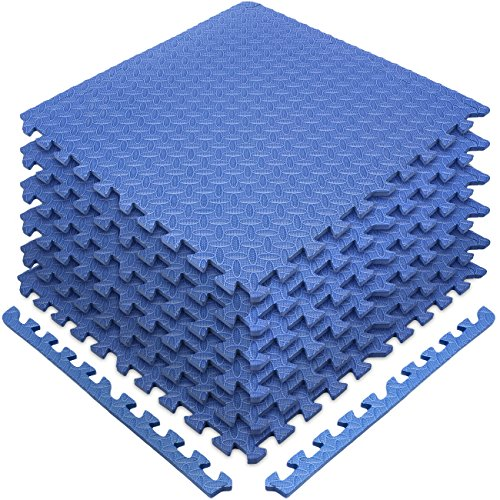 Sivan Health and Fitness® Puzzle Exercise Mat High Quality EVA Foam Interlocking Tiles—Protective Flooring for Gym, Garage Flooring, Playroom, Workshop, Basement, and more (Blue)