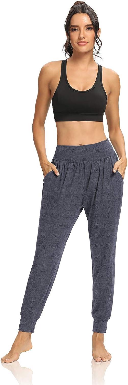 DIBAOLONG Womens Yoga Joggers Loose Workout Sweat Pants Comfy Lounge Pants with Pockets